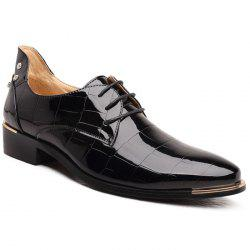 Trendy Rivet and Embossing Design Men's Formal Shoes -