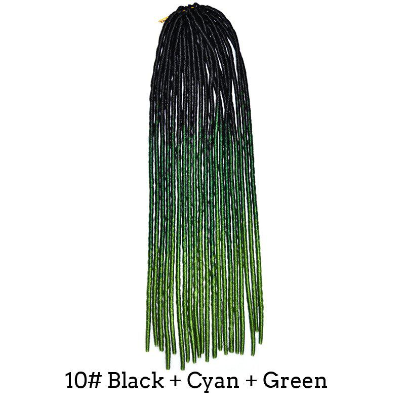Sale Stunning Braids Dreadlock Three Color Gradient Synthetic Hair Extension For Women
