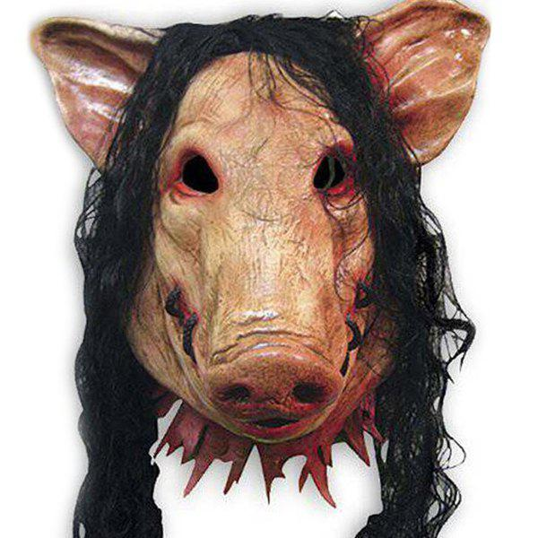 Trendy Novelty Halloween Hair Pig Mask Cosplay Prop For Fancy Ball Party Spirit Festival
