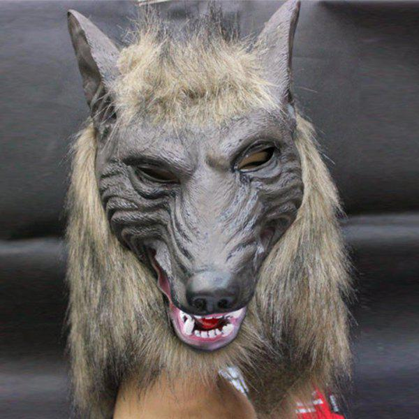 Cheap Creepy Halloween Wolf Latex Mask Cosplay Prop For Fancy Ball Party Show