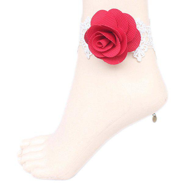 New Rose Crochet Lace Flower Anklet