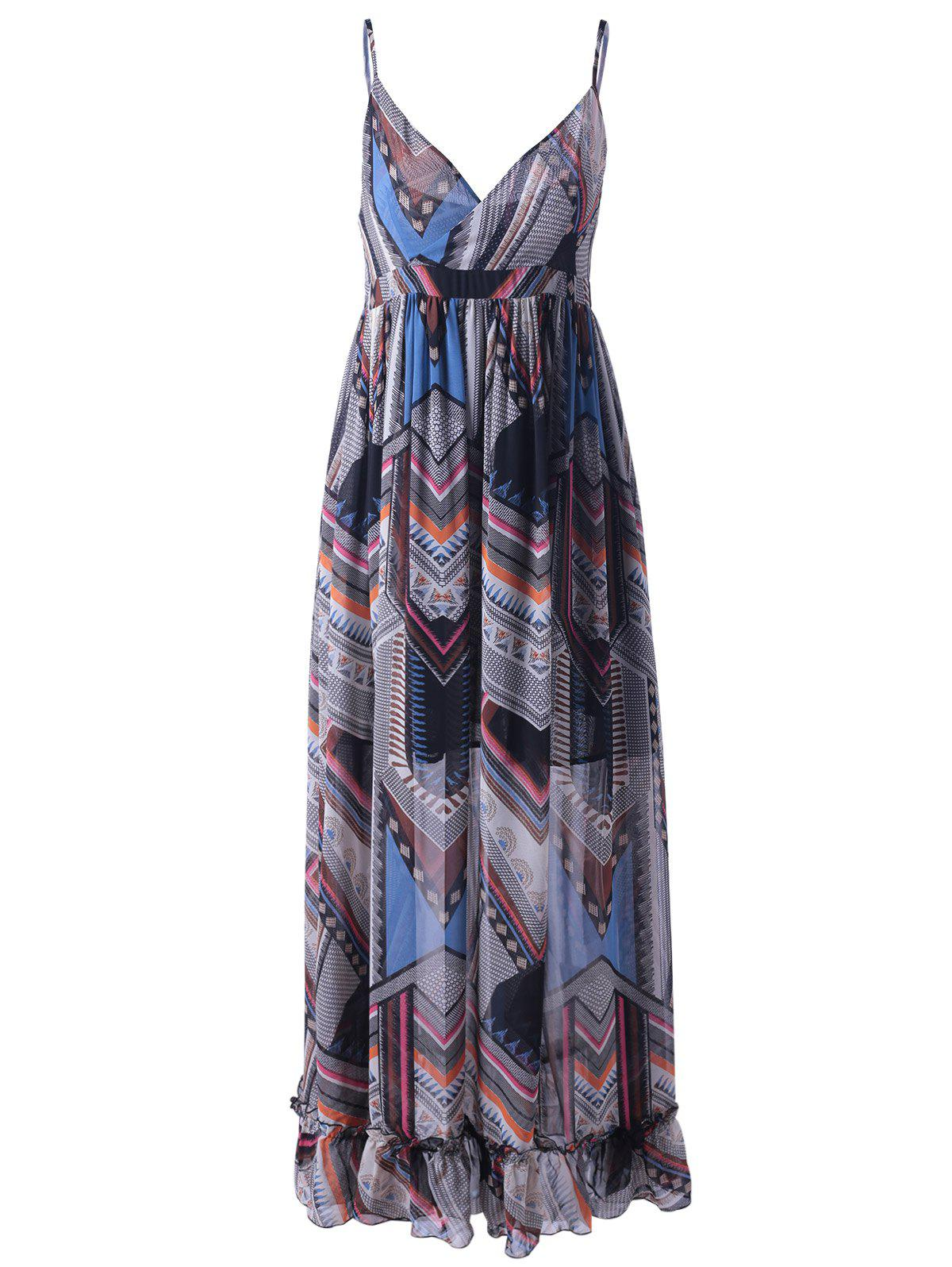 Bohemian Print Long Slip Beach Dress DRESSFO