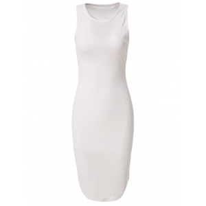 Casual Fitted Knee-Length Bodycon Dress
