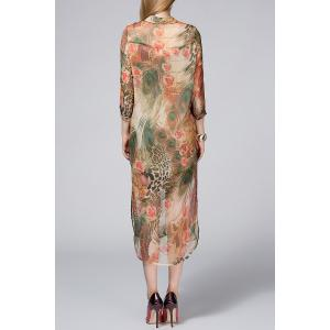 Camisole Dress and Peacock Printed Dress Twinset -
