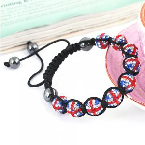 Union Flag Beaded Weaving Bracelet