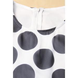 Polka Dot Print Dress -