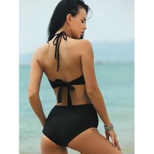 Alluring Halter See-Through Bikini Set For Women -