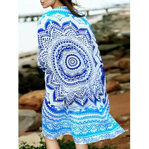 Fashion Print Round Shape Convertible Cape Cover Up For Women -