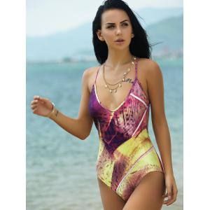 Sexy Spaghetti Strap Criss-Cross One Piece Swimsuit For Women -