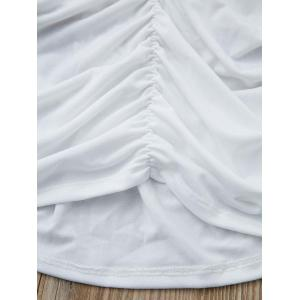 Sexy Plunging Neck Sleeveless Solid Color Cut Out Women's Tank Top - WHITE S