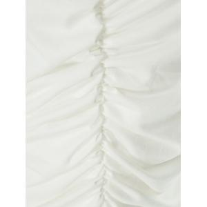 Crop Ruched Two Piece Party Dress - WHITE M