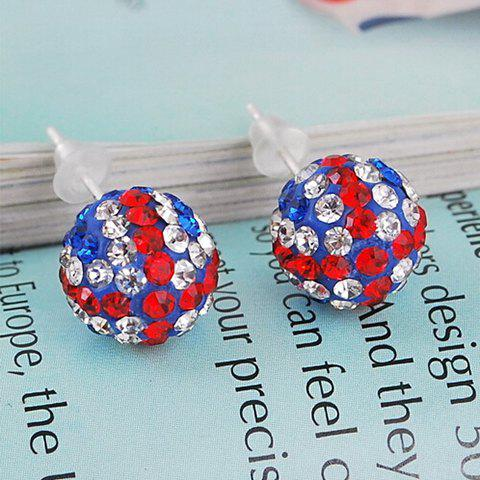 Shop Pair of Union Flag Ball Shape Alloy Stud Earrings