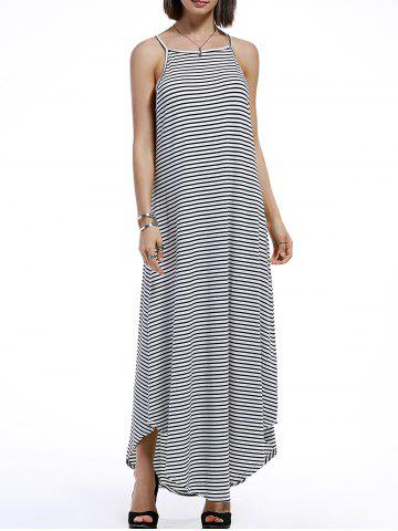 Buy Spaghetti Strap Casual Striped Maxi Dress STRIPE XL
