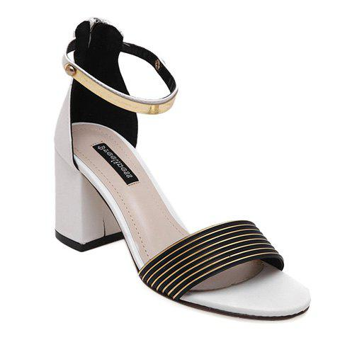 New Simple Style Striped and Metal Design Sandals For Women