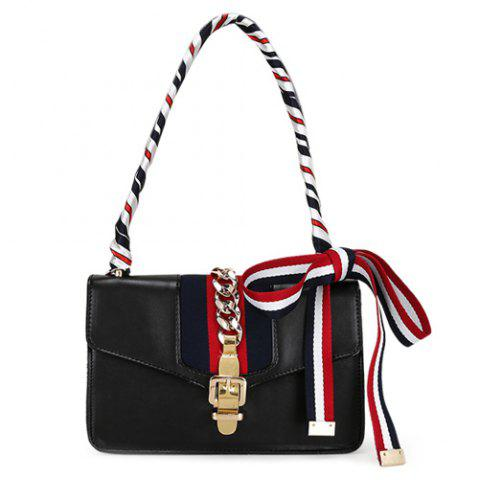 Outfits Fashion Hasp and Scarves Design Crossbody Bag For Women
