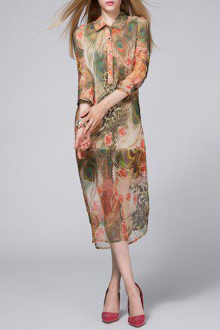 Hot Camisole Dress and Peacock Printed Dress Twinset