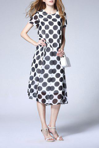 Unique Polka Dot Print Dress