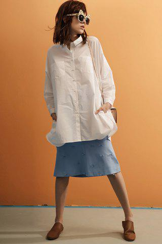 Buy Chest Pocket Lace Insert Shirt Dress