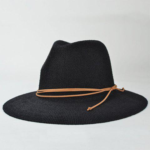 Outfits Stylish Knotted Rope Casual Holiday Travelling Sunscreen Sun Hat For Women