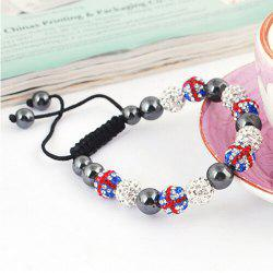 Stylish Union Flag Red White and Blue Beaded Bracelet