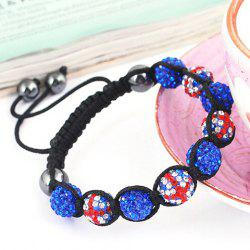 Union Flag Red White and Blue Ball Weaving Bracelet -
