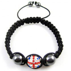 Union Flag Design Beaded Weaving Bracelet