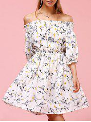 Sweet Off The Shoulder Floral Print Dress