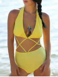 Sexy Halterneck Hollow Out Swimsuit For Women