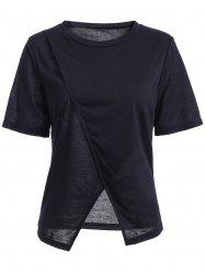 Slit Asymmetric T-Shirt -
