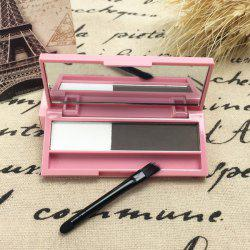 Stylish 2 Colours Long Lasting Sweatproof Smudge-Proof Eyebrow Powder Palette with Brush and Mirror - 01