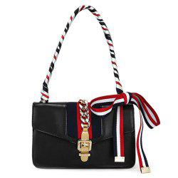Fashion Hasp and Scarves Design Crossbody Bag For Women -