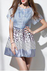 Polka Dot Mini Dress with Cover Up -