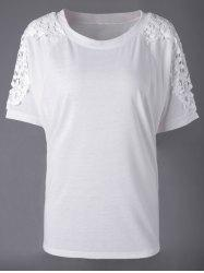 Elegant Bud Silk Round Collar Short Sleeve T-shirt -
