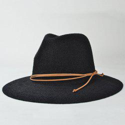 Stylish Knotted Rope Casual Holiday Travelling Sunscreen Sun Hat For Women -