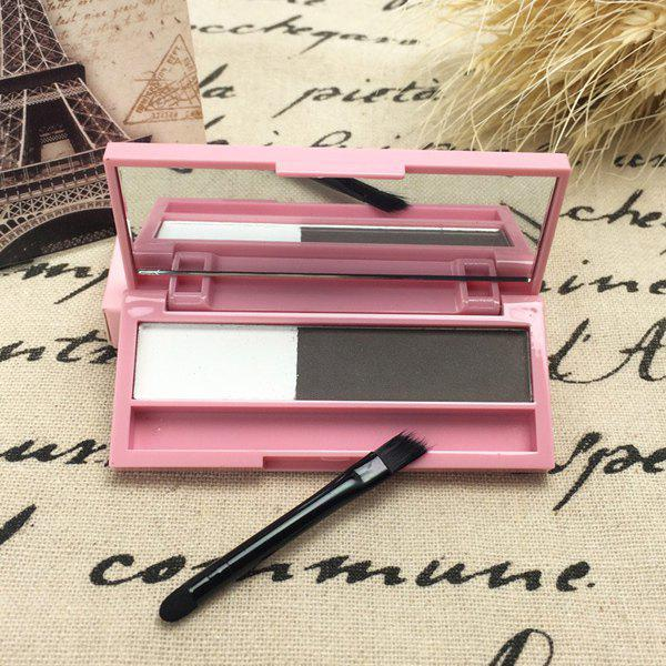 Store Stylish 2 Colours Long Lasting Sweatproof Smudge-Proof Eyebrow Powder Palette with Brush and Mirror