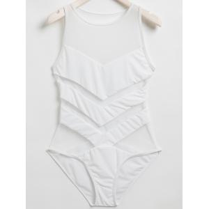 Mesh Panel One Piece Swimwear