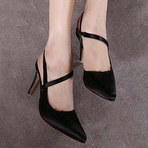 Graceful Satin and Slingbacks Design Pumps For Women - BLACK 38