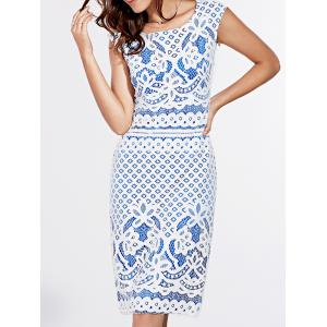 Short Sleeve Lace Crochet Pattern Dress