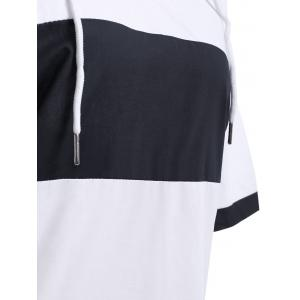 Stylish Hooded Short Sleeve Loose-Fitting Women's Dress -