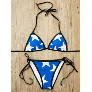 Stylish Halter   Star Pattern Bikini Set For Women