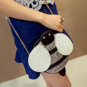 Cute Bee Shape and Sequined Design Crossbody Bag For Women -