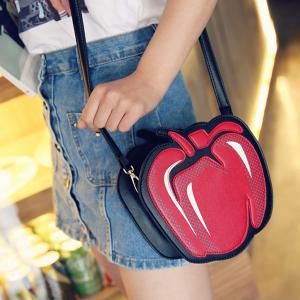 Novelty Pepper Shape and PU Leather Design Crossbody Bag For Women -