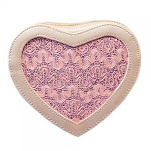 Sweet Heart Shape and Lace Design Crossbody Bag For Women - Light Pink - Xl
