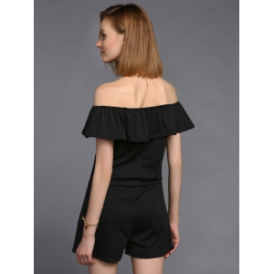 Stylish Off The Shoulder Ruffled Romper For Women -
