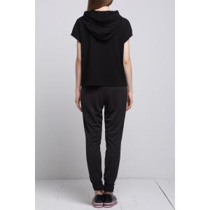 Hooded Zip Tee with Jogger Sweatpants -