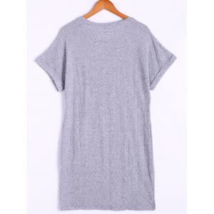 Loose-Fitting Round Neck Cap Sleeves  Shirt Dress For Women -