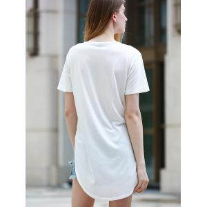 Simple Style Short Sleeve Round Neck Slit Women's T-Shirt -