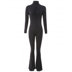 Slimming Turtleneck Long Sleeve Bootcut Jumpsuit