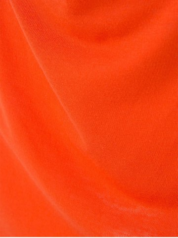 New Spaghetti Strap Sleeveless Low-Cut Hollow Out Casual Dress - S ORANGE Mobile
