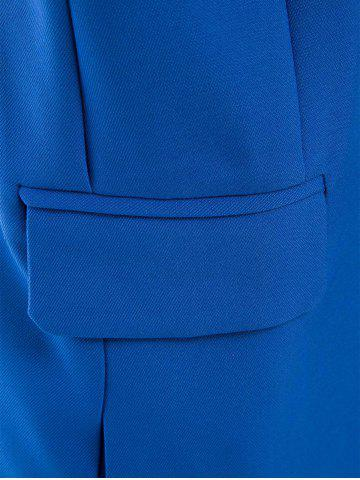 Buy OL Style Shawl Collar Solid Color Bodycon Blazer For Women - L SAPPHIRE BLUE Mobile